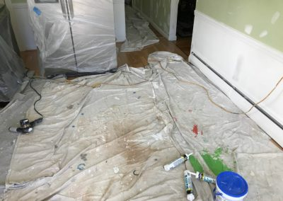 Painting inside house before