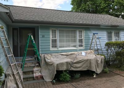 Painting external house before