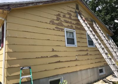 Exterior painting of house in Methuen Town MA - Before