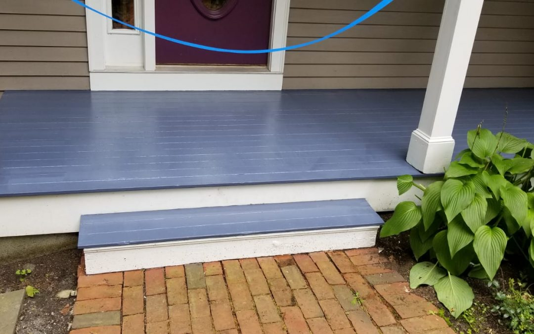 Exterior painting of house and floor in Lexington
